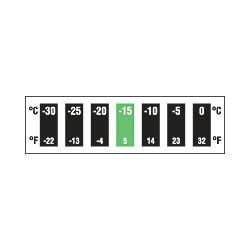 Digitemp 7 Level Reversible Temperature Strips - Horizontal